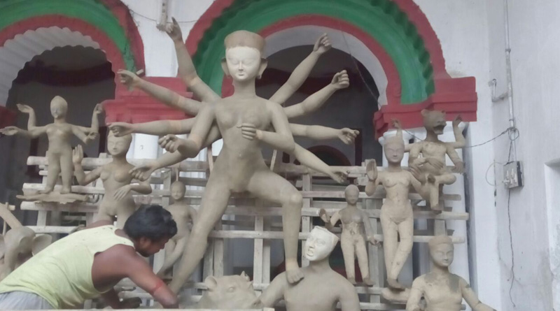 Murshidabad: Goddess Ganga worshipped along goddess Durga here