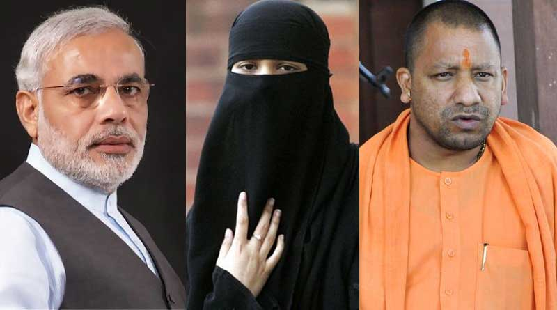 Muslim woman thrown out of house for painting PM Modi, Yogi Adityanath