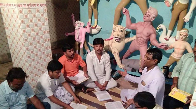 Now training camp for priests on Durga Puja