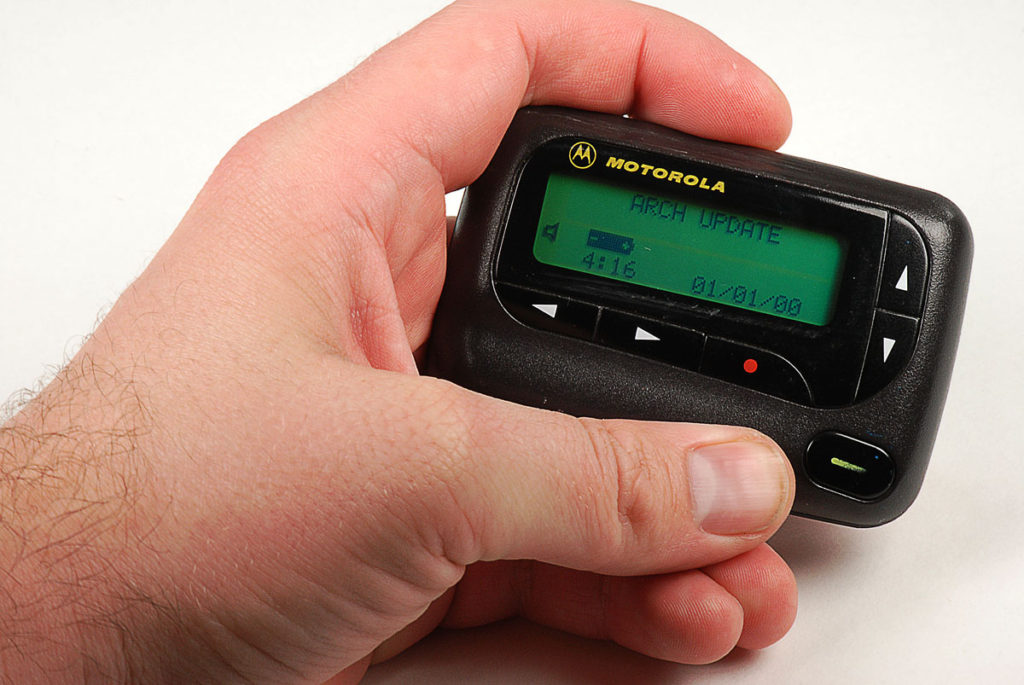 Pager-in-hand