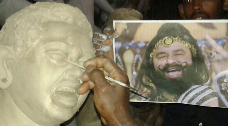 Ram Rahim replaces Mahisashura in Cooch Behar Durga Puja