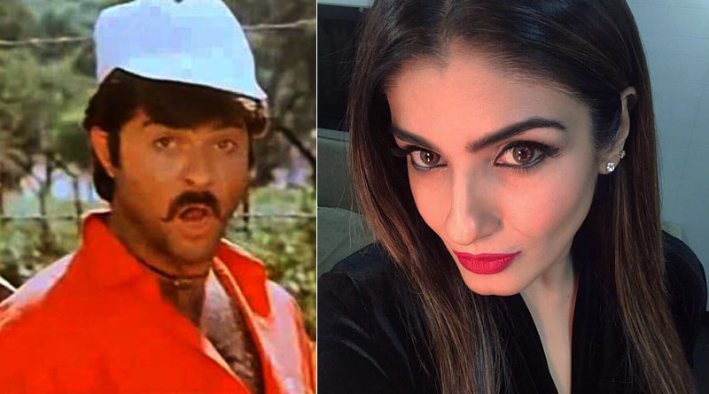 Raveena Tandon turns Anil Kapoor, posts 'hairy' pic