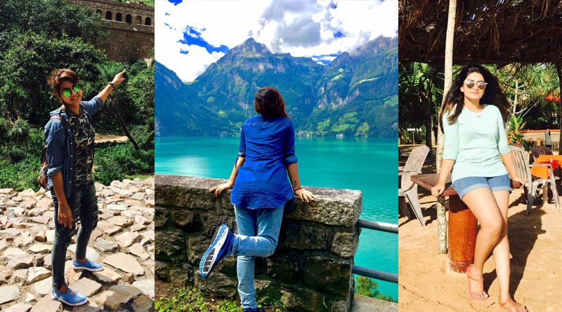 Tollywood celebs on foreign tour post selfie