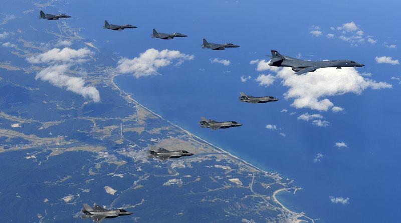 US Bomber flies near N Korea, Kim threatens attack