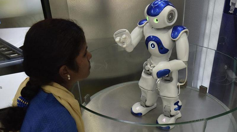Robots serve customers at Canara Bank in Bengaluru