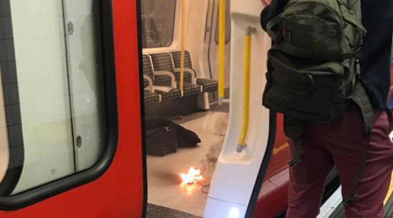 Mobile phone charger explodes on London metro, sparks panic