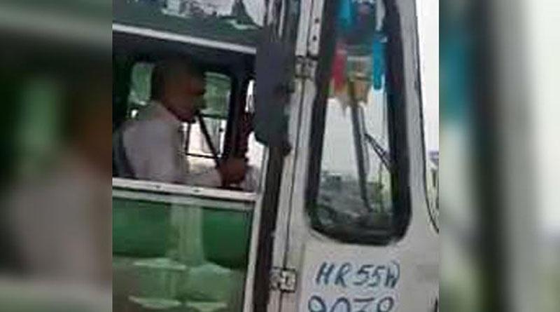 Haryana: Roadways dismisses bus driver for smoking hookah while driving