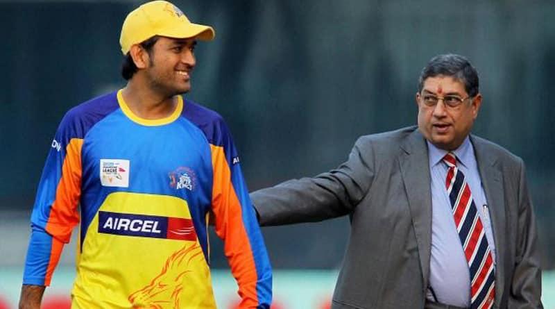 MS Dhoni breaks silence on his ties with N Srinivasan