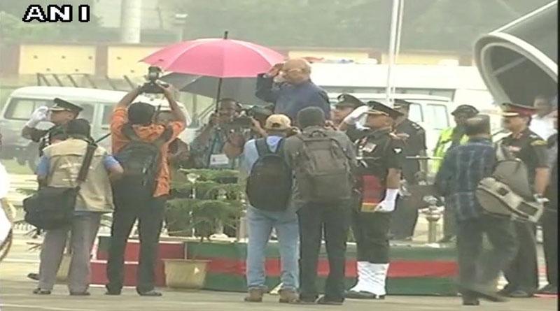 refusing umbrella, President Kovind takes salute amid pouring rain in Kerala