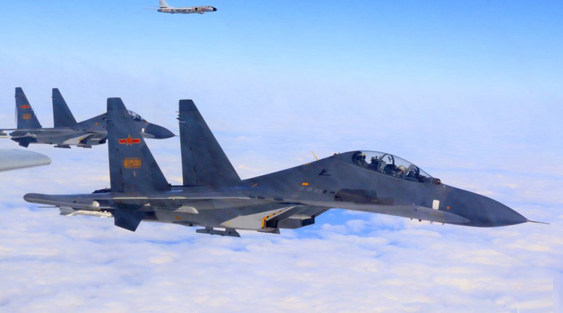 China Air Force conducts combat patrols over South China Sea
