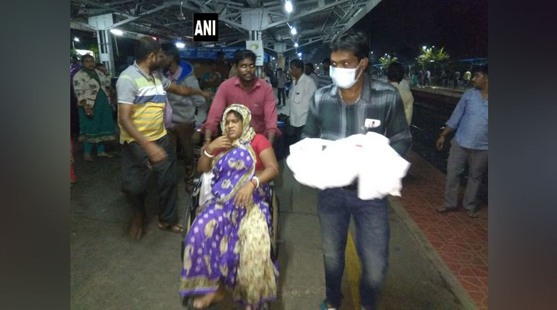 Woman blessed with a child at Nellore railway station