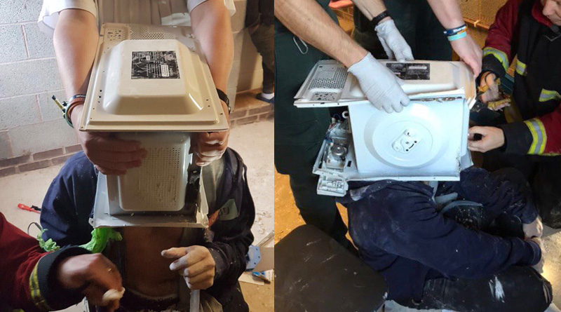 UK Prankstar gets head cemented inside microwave for YouTube video