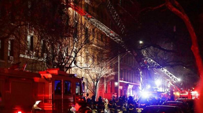 Massive fire in New York apartment, 12 killed
