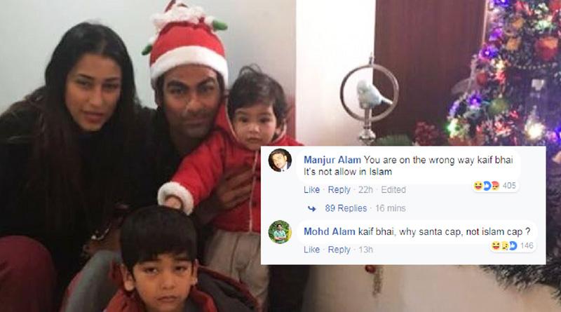 Trolls target Mohammad Kaif for celebrating Christmas