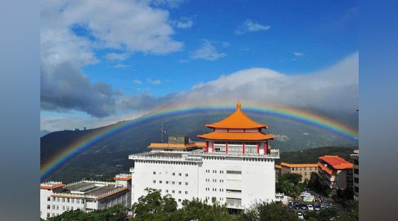 nine-hour rainbow appears in Taiwan