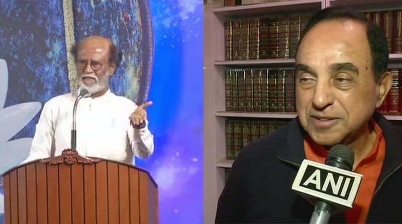 BJP MP Subramanian Swamy Slams Rajinikanth, considers him as 'illeterate'