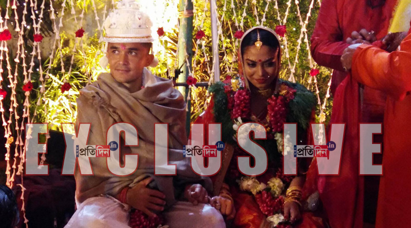 Sunil Chhetri tied the knot with former Indian football's daughter