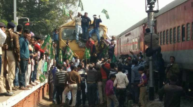 Protest after goons kidnap train passenger