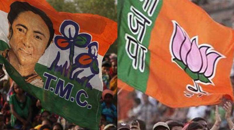 TMC and BJP clash in Bangaon