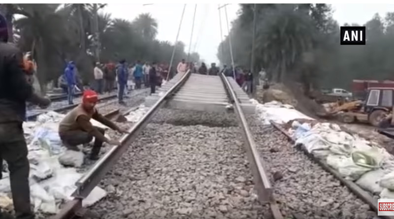 Demolish rail bridge reconstructed within 7 hours in UP