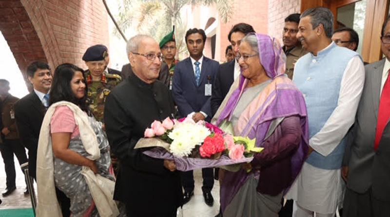 Pranab Mukherjee visits Surya Sen's residence in Bangladesh