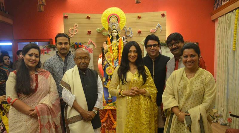 Saraswati Puja: Festive fever grips Tollywood celebs
