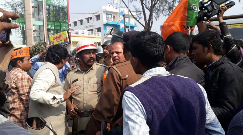 BJP workers clash with police in Digha