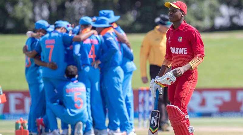 U19 WC: India reaches quarter final, beat Zimbabwe by 10 wickets