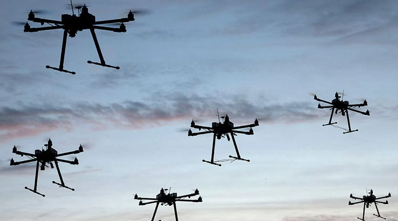 Suspected drone activity spotted at three places in Jammu and Kashmir's Samba | Sangbad Pratidin