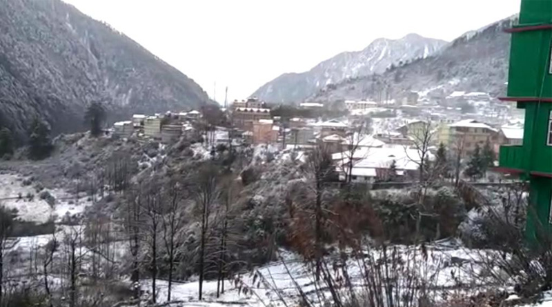 Lachung witnesses season first snowfall