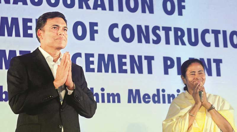 CM inaugurates cement factory of Gindal group at Salboni