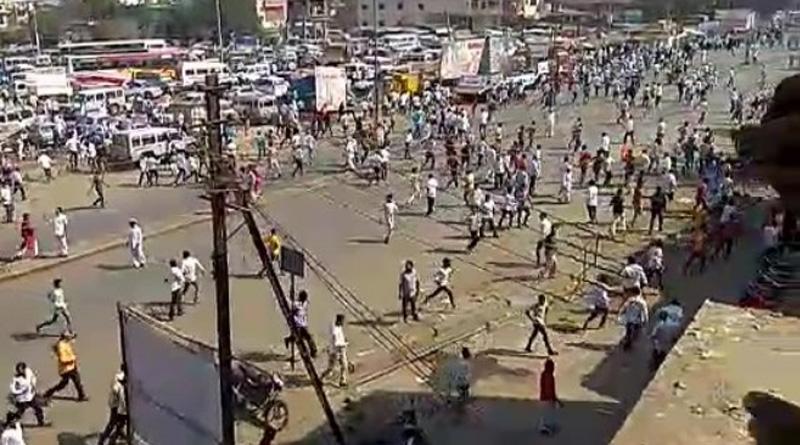 Maha caste clash: Angry mob vandalizes bus, halts train