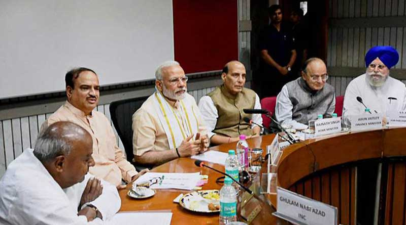 PM Modi meet opposition parties before Budget session