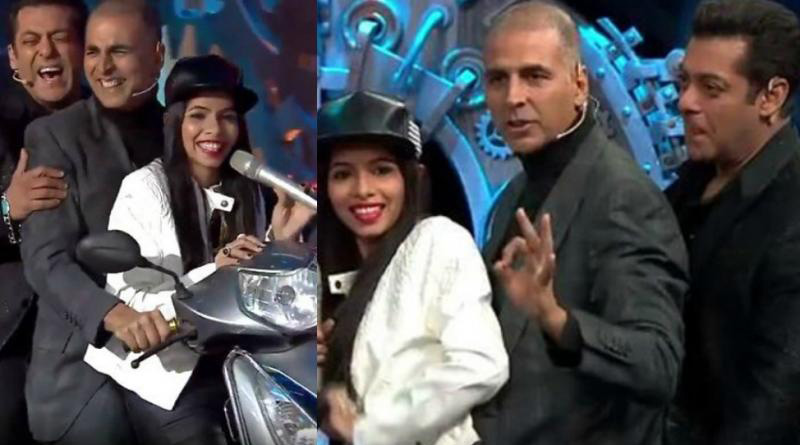 Dhinchak Pooja rides with Salman, Akshay on her scooter