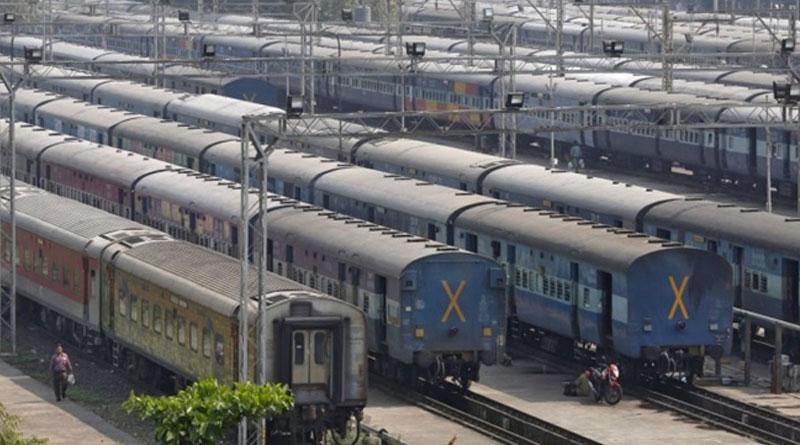 Saffron on railway track sparks row