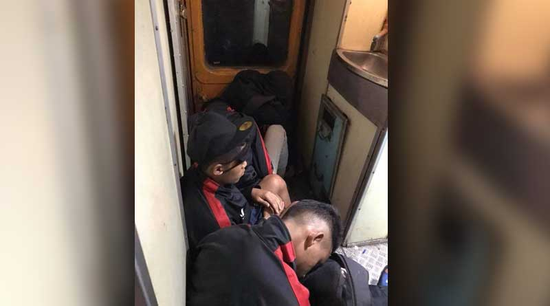 Utter apathy, Aizawl F.C players forced to sleep near toilet in train