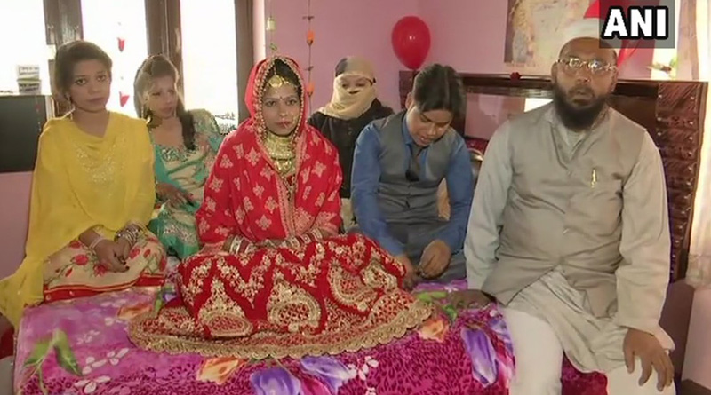 Muslim family marries adopted son according to Hindu ritual