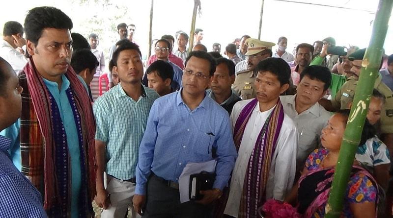 Tripura: Biplab Deb Visits Village, Suspends 3 Officials Caught Neglecting Duty