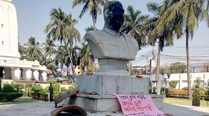 Left-Liberals 'vandalise' Shyama Prasad Mookerjee's staute in Kolkata