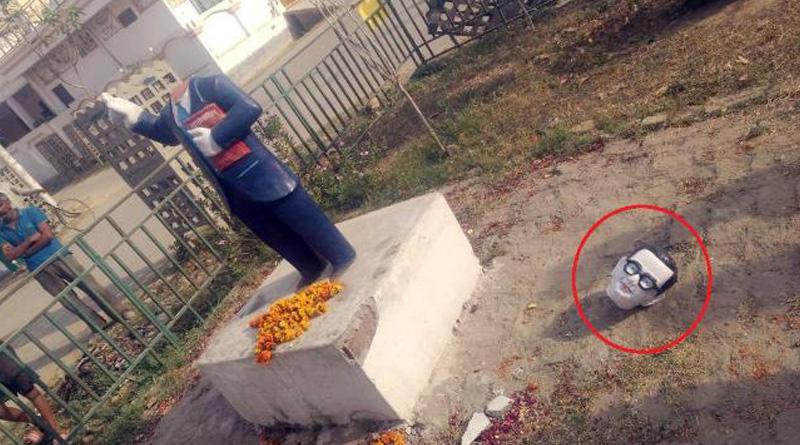 BR Ambedkar statue's head chopped off in Uttar Pradesh