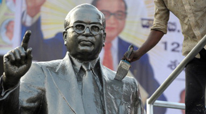 Another Ambedkar statue defaced in UP's Azamgarh