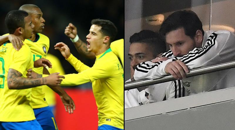 Germany beats Brazil; Spain humiliates Argentina in friendly football match