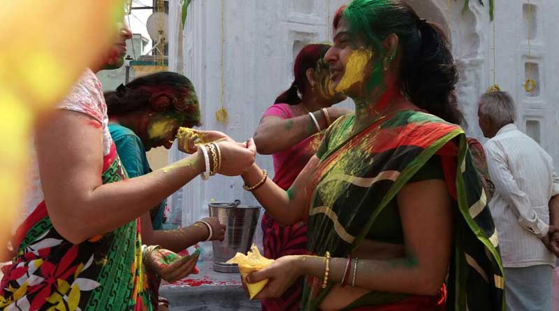 Another Holi celebrated in Mithani village at Asansol