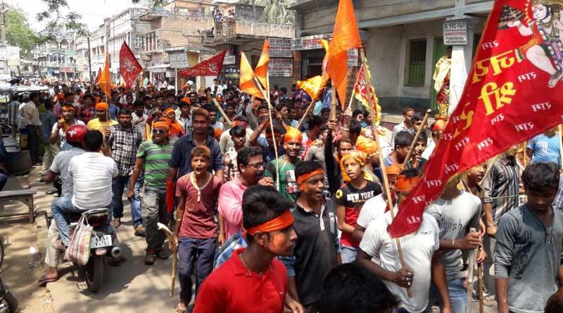 Cops baton charge Ram Navami rally in Kandi