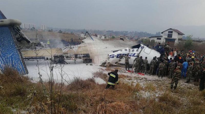 Bangladesh Plane crashes at Nepal's Kathmandu airport