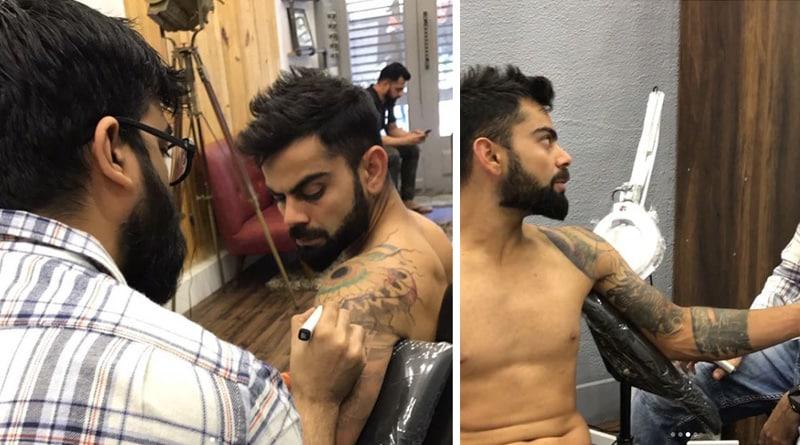 Mumbai: Virat Kohli Spotted At A Tattoo Parlour