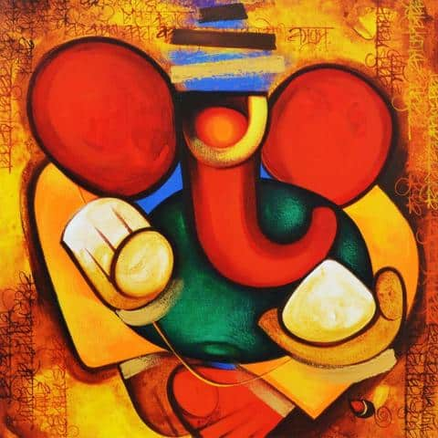 Acrylic_20Art_20-_20Ganesha_large