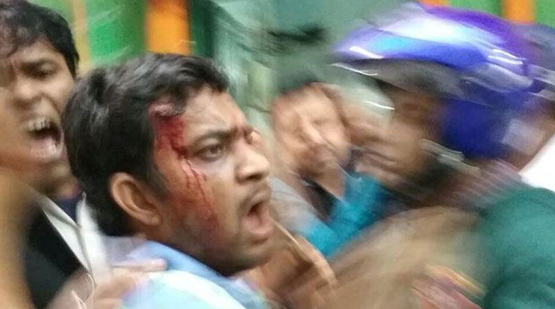 bjp attack on trinamool leader workers house