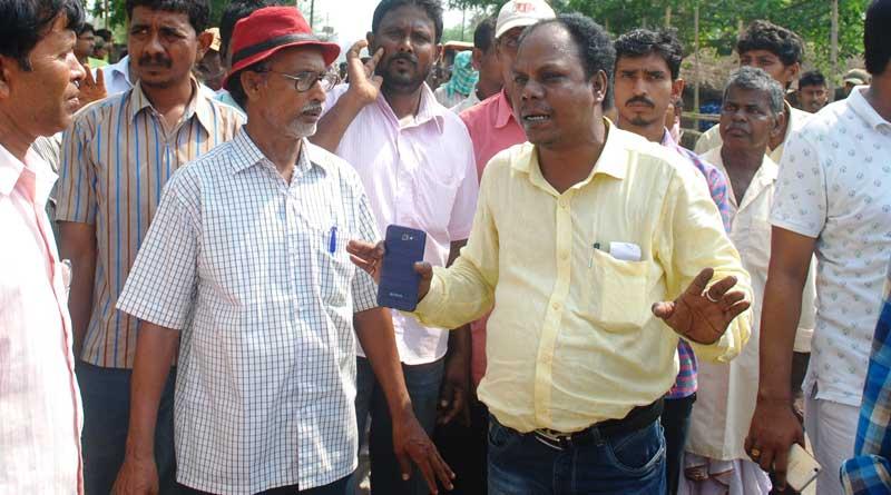 TMC MLA escorted left candidates to BDO office For filing nominatio