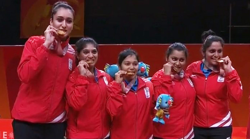 CWG 2018: Indian women's Table Tennis team beats Singapore to win Gold
